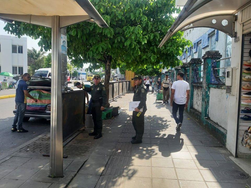 Mantenimiento del espacio público en la ciudad. Más acciones policiales en el sector comercial  | EL FRENTE
