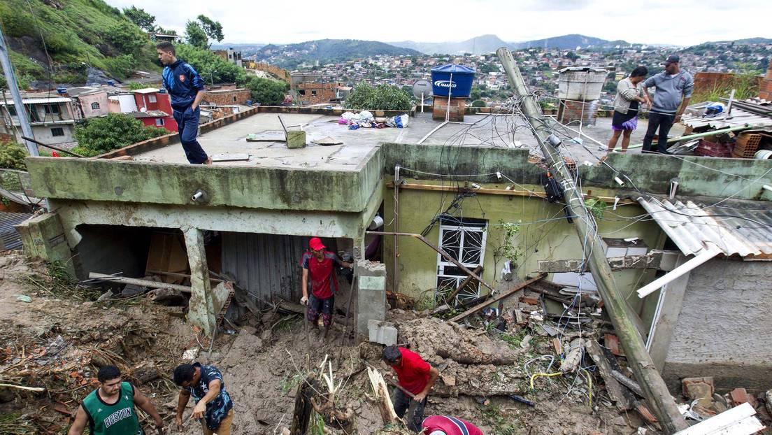 Suben a 44 los muertos por lluvias en Brasil | Mundo | EL FRENTE